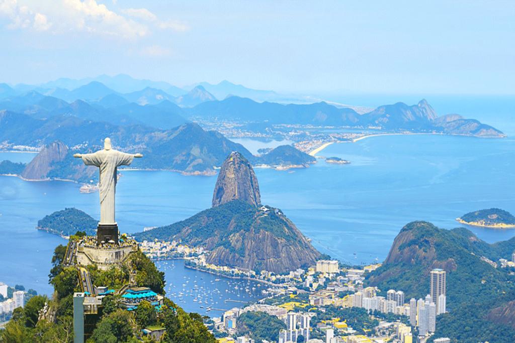 Aerial view of Rio de Janeiro with Christ Redeemer and Corcovado Mountain. Brazil 1024x683 - ثبت شرکت در کشور برزیل